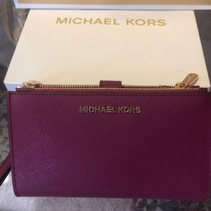 🌸 Michael Kors Wallet Double zip Leather🌸🌸